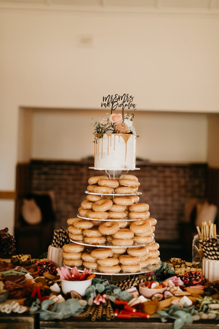 The Boho Bridal Style - Glazed Doughnut Cake with Topper