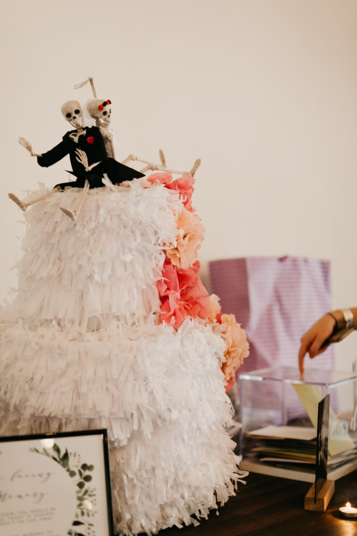 Pinata Cake for the Fake Out Boho Bride