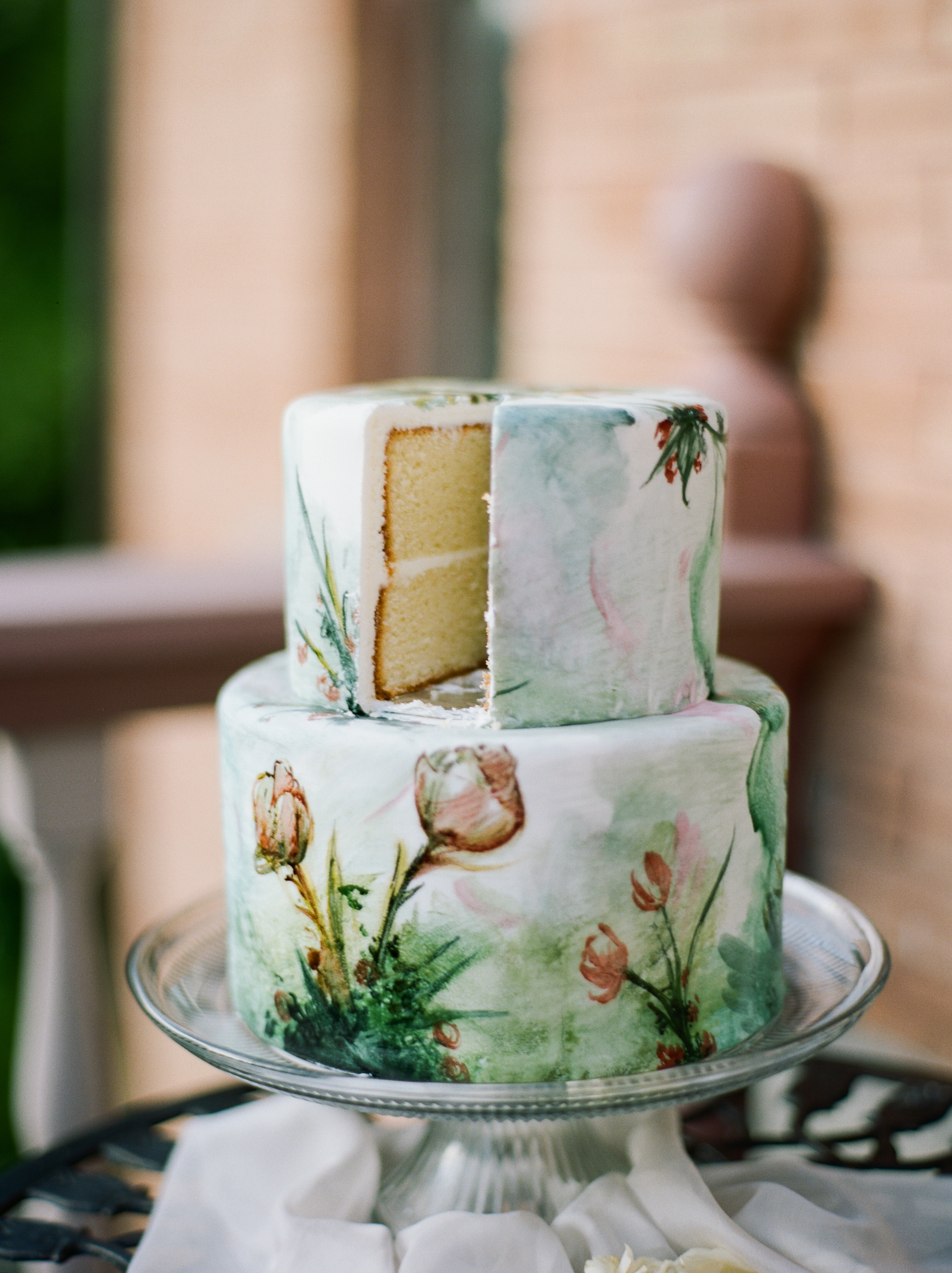 Vintage WaterColor Cake to Match your Vintage Style - Jadie Jo Photography