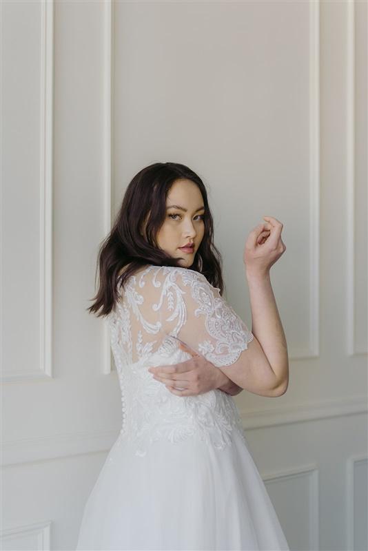 Rebecca Ingram Beaded Lace Aline Wedding Dress