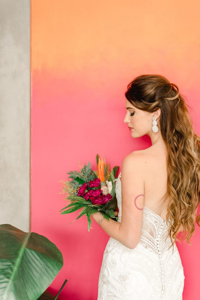 Tropical Styled Shoot feat Whitney Lace Maggie Sottero Wedding Dress