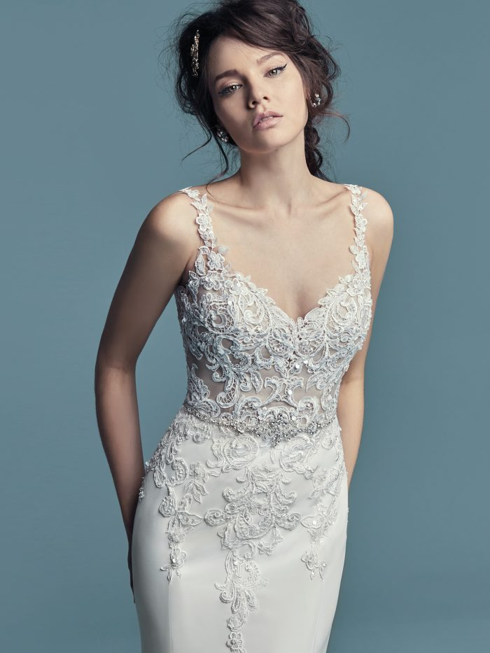 Alaina Lace Beaded Maggie Sottero Wedding Dress