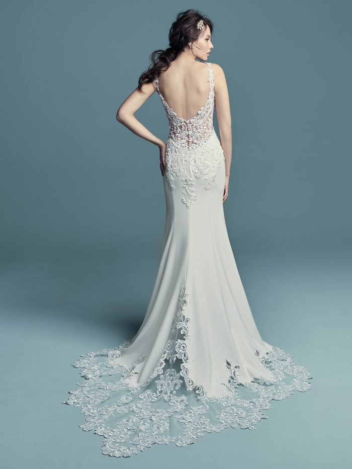 f1c4d2fee9f45 15 Gorgeous Statement-back gowns for the Stylish Brides : Love Maggie