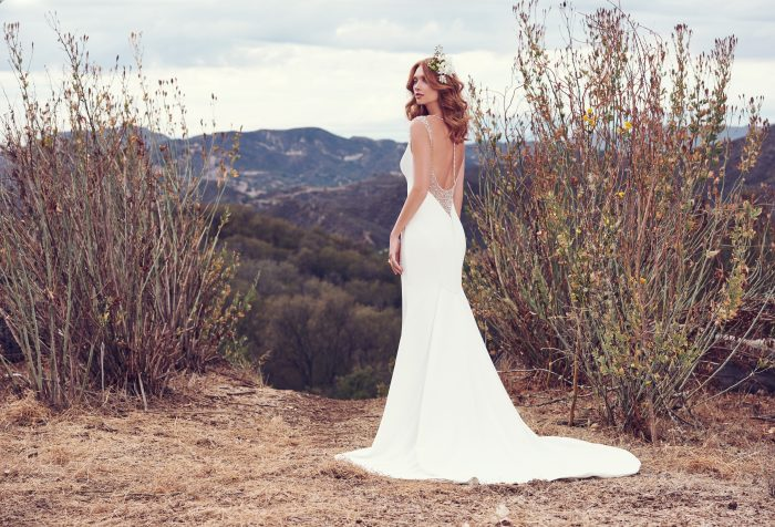 Simple Beaded Evangelina Maggie Sottero Wedding Dress