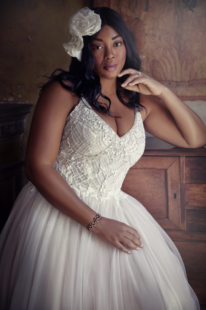 Flattering Wedding Dresses for a Plus Size Bride - Matilda Lynette by Maggie Sottero
