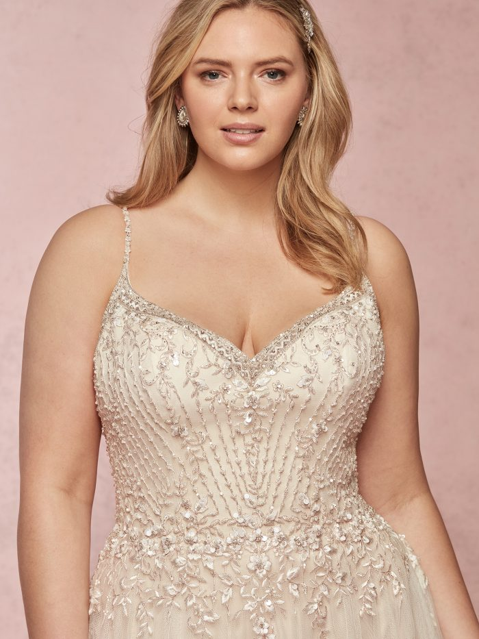 Flattering Wedding Dresses for a Plus Size Bride - Mayla by Rebecca Ingram
