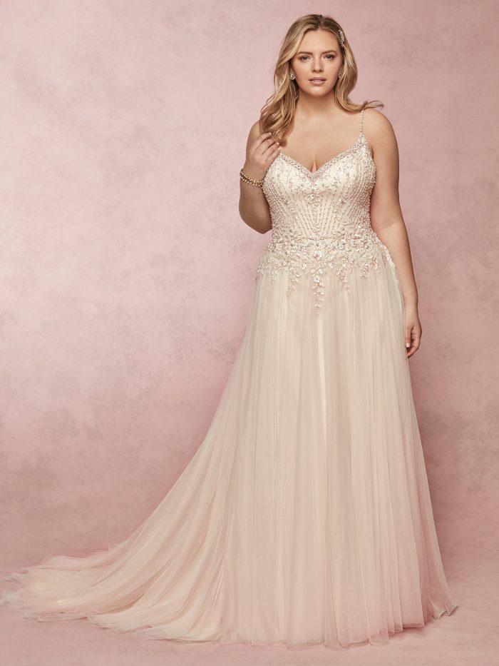 Flattering Wedding Dresses for a Plus Size Bride - Mayla by Rebecca Ingram