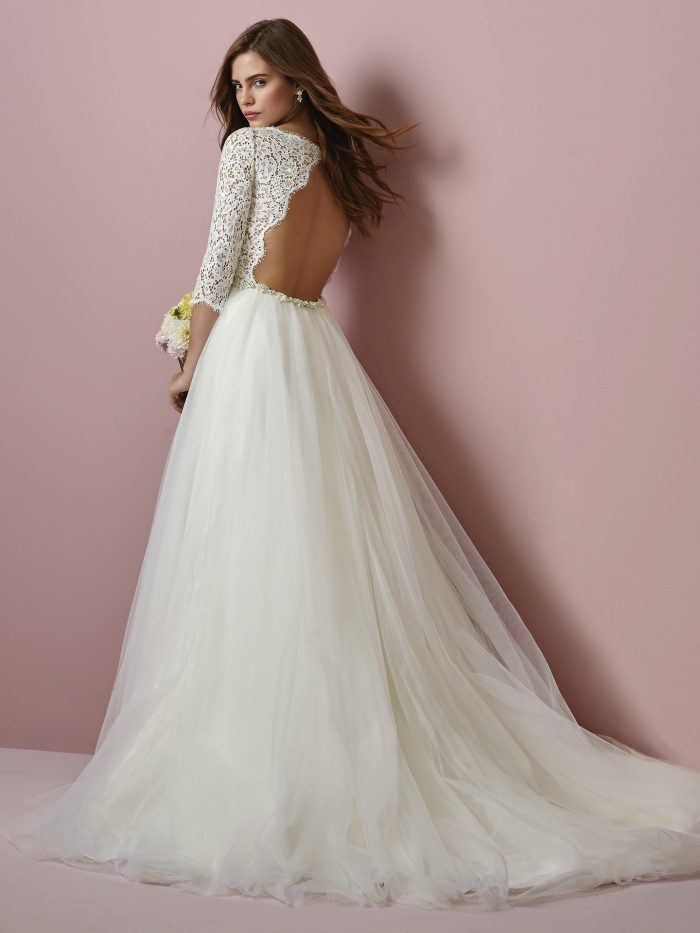 Scarlett Lace Tulle Ballgown Rebecca Wedding Dress