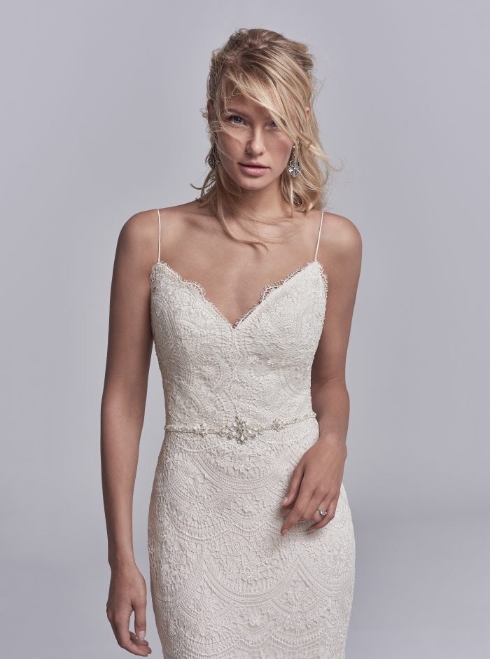 Maxwell Lace fit-and-flare Sottero and Midgley Wedding Dress
