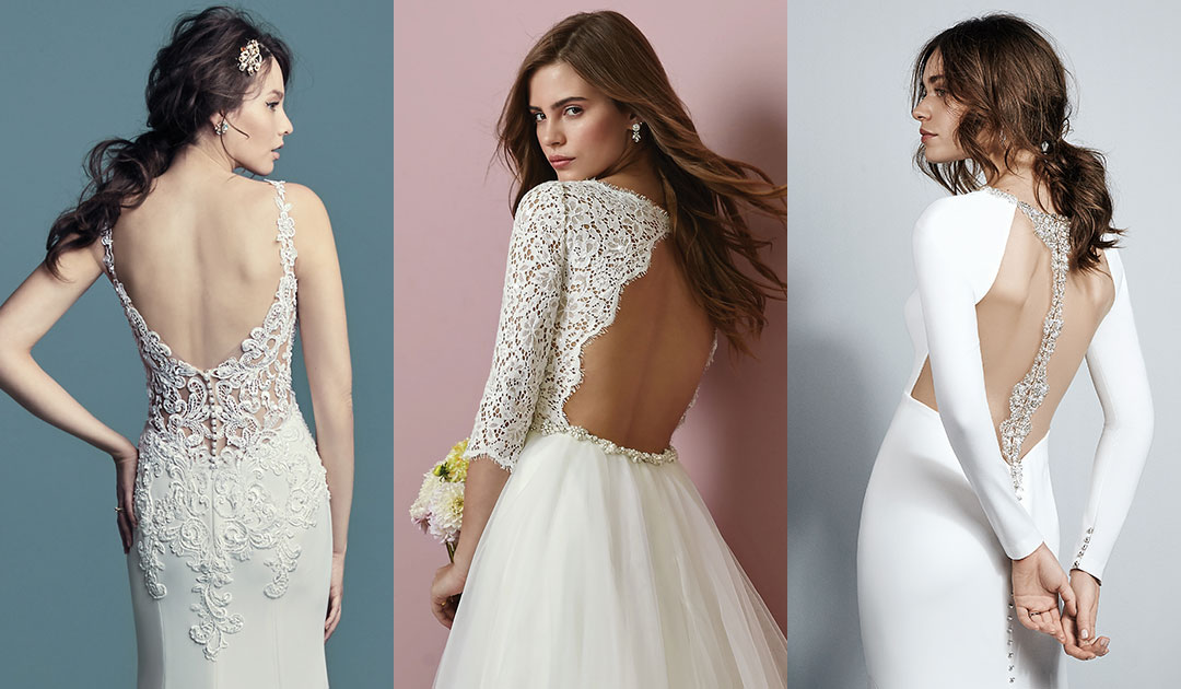 Statement Back Gowns feat Maggie Sottero Sottero and Midgley Rebecca Ingram Gowns