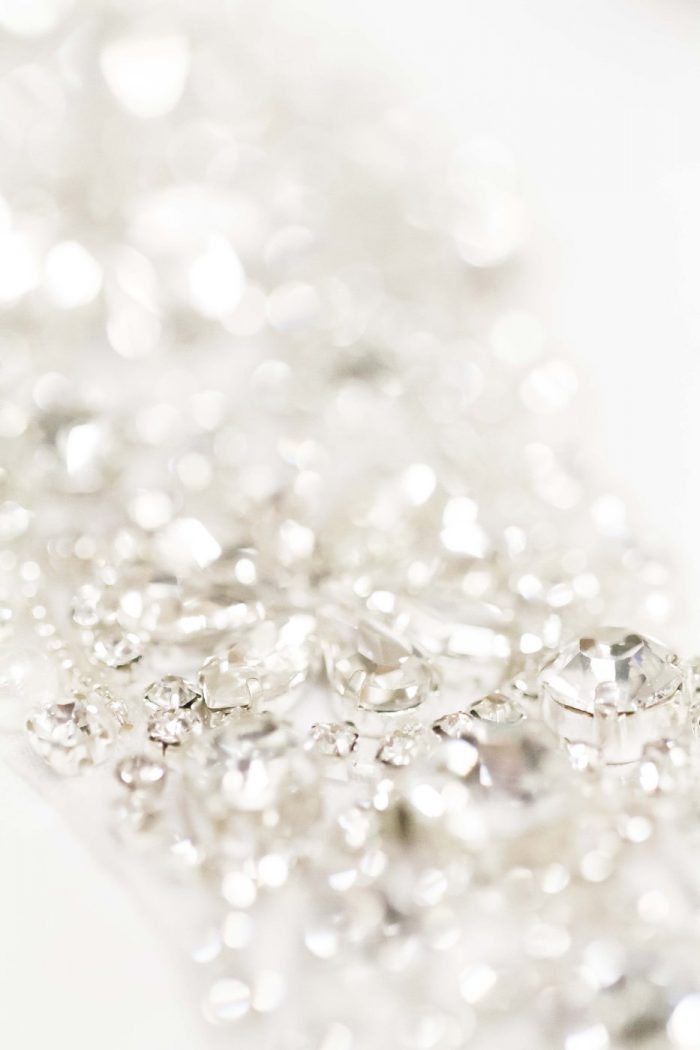 Crystal Details for a Wedding Dress