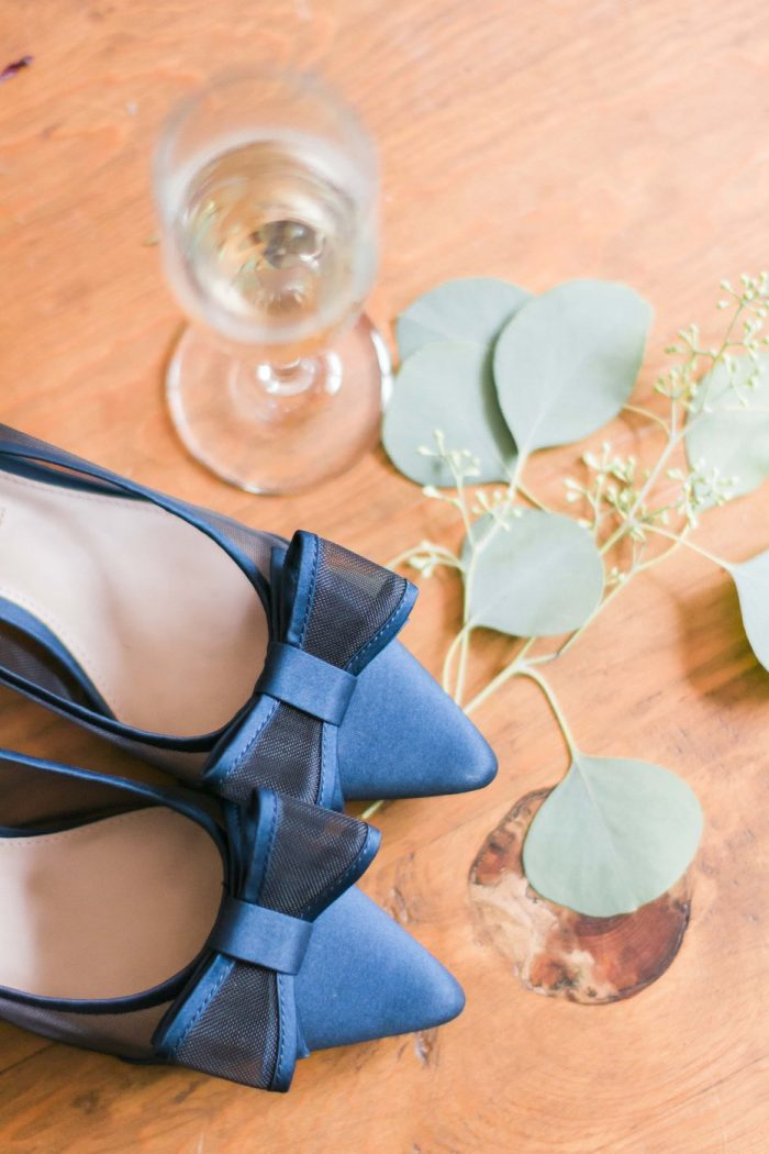 Blue Shoes and leaves