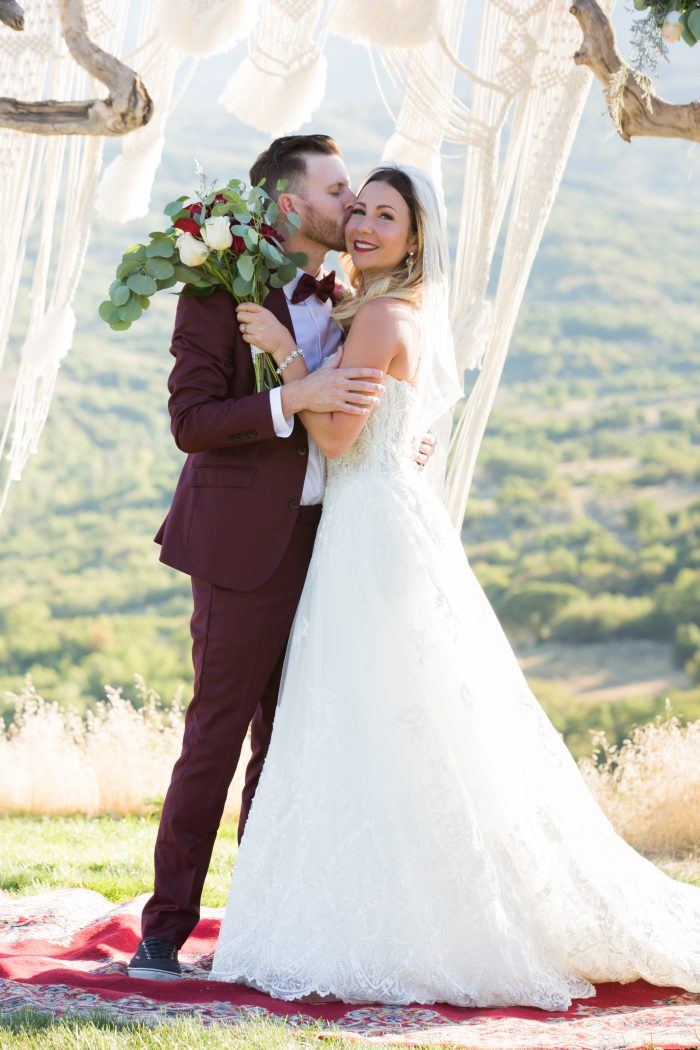 Bride and Groom A Line Wedding Dress Watson by Sottero and Midgley