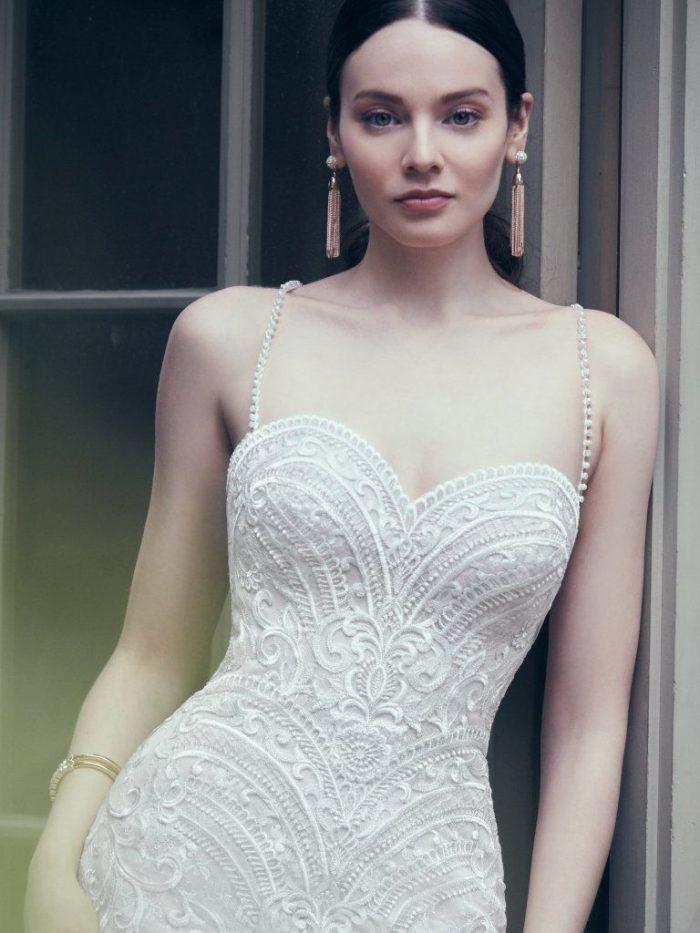 Whitney Lace Sweetheart wedding dress