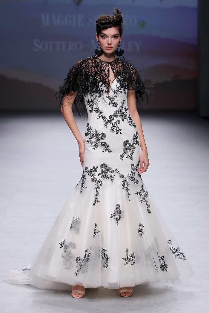 Ally Fit and Flare Lace Wedding Dress on the Runway
