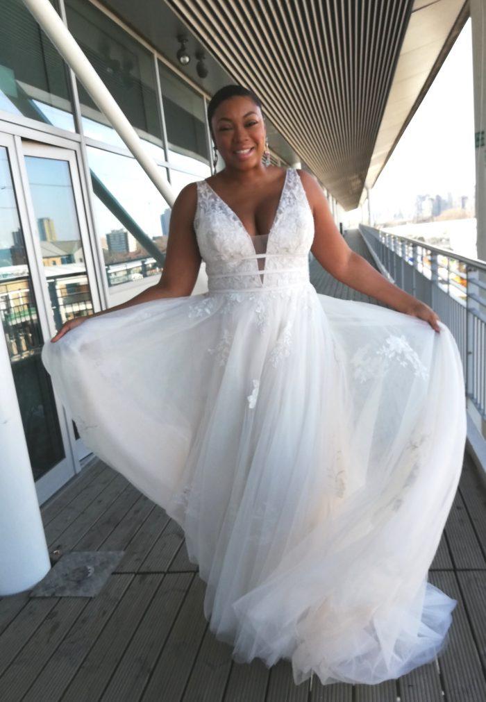Rebecca Ingram Raelynn Lynette Lace Wedding Dress