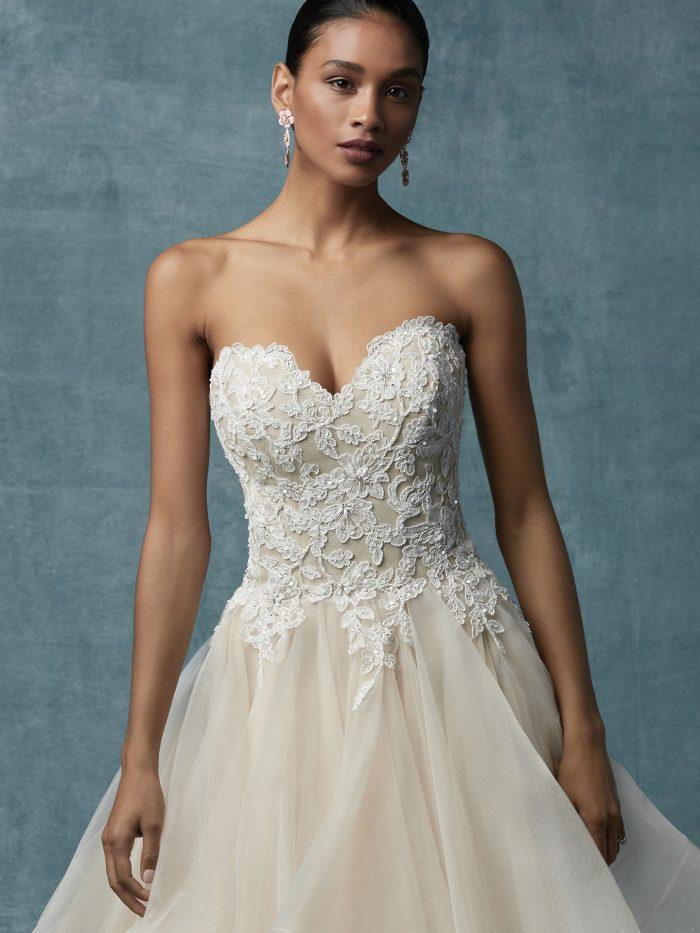 Anastasia Maggie Sottero tulle ballgown lace wedding dress