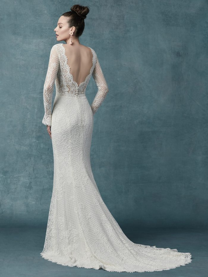 Maggie Sottero Antonia Jersey Sheath Wedding Dress
