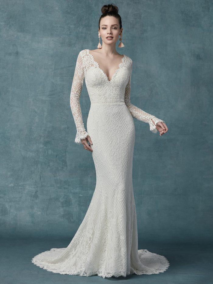 Maggie Sottero Antonia Jersey Sheath Wedding Dress