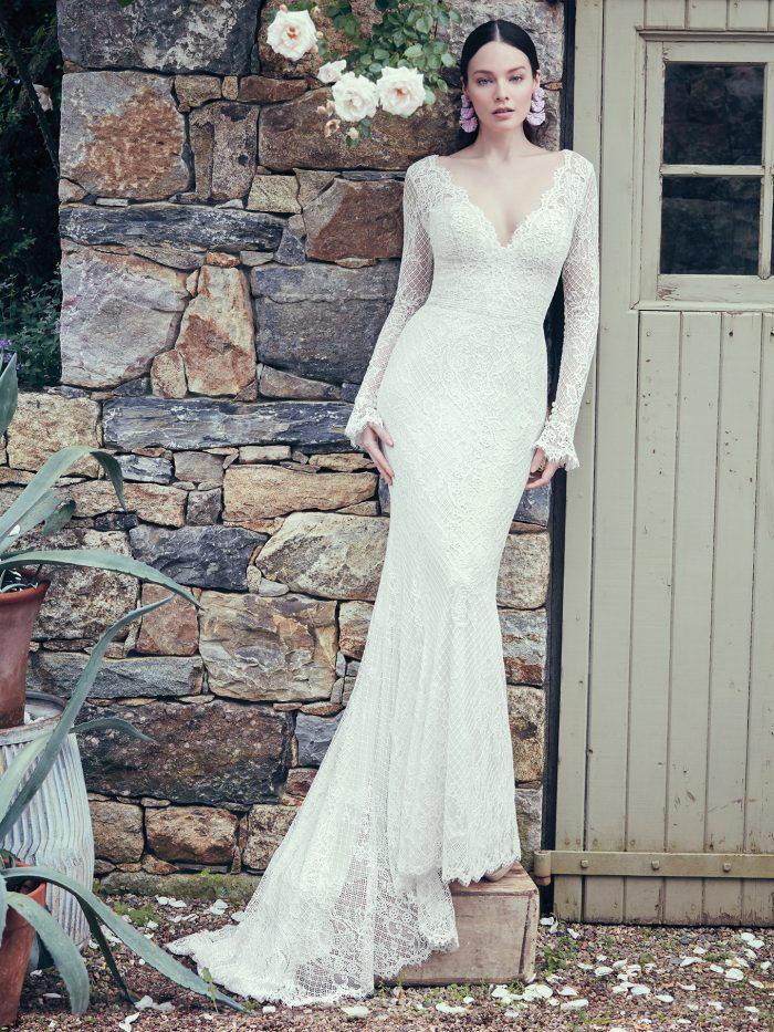 Antonia Maggie Sottero   jersey sheath wedding dress