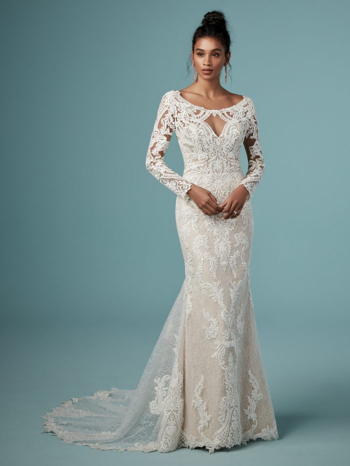 Maggie Sottero Cheyenne Lace Long Sleeve Wedding Dress