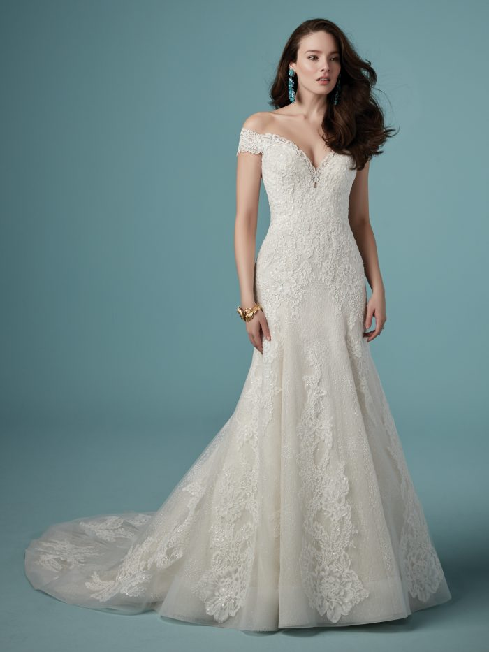 Maggie Sottero Maeleigh Lace fit-and-flare wedding dress