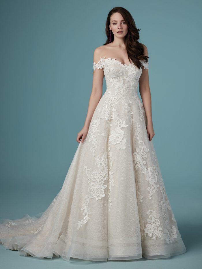 Maggie Sottero Lace Ballgown Wedding Dress