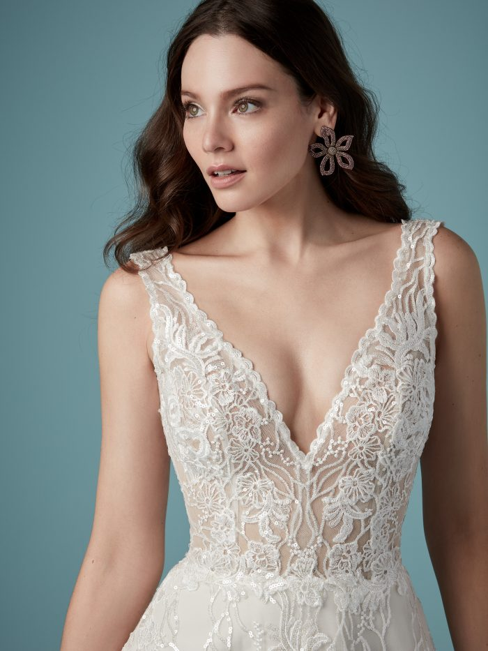 Maggie Sottero Ricarda Rose Lace Ballgown Wedding Dress
