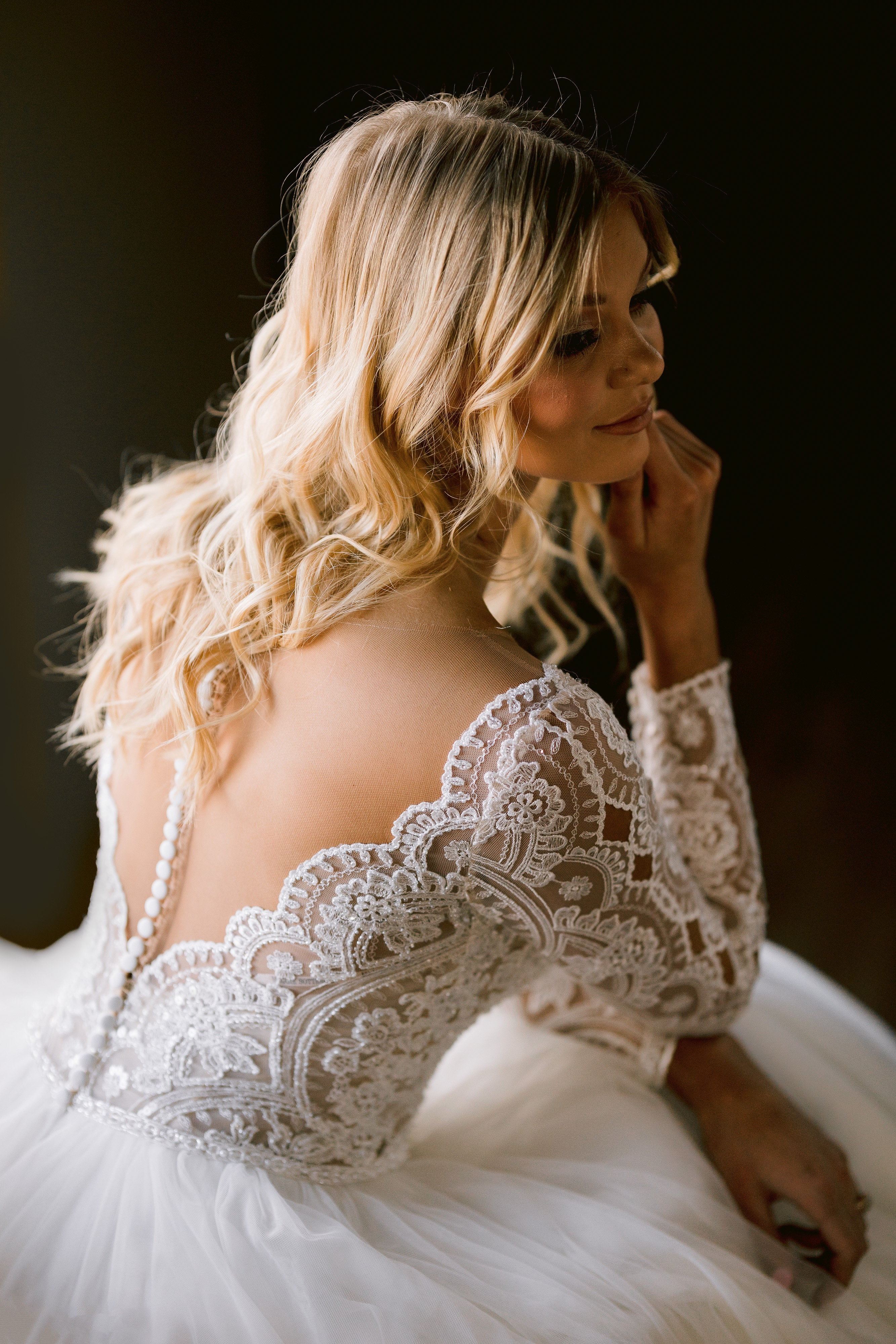 Mallory Dawn Long Sleeve Ballgown Wedding Dress