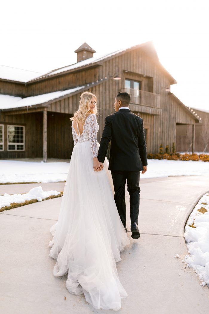 Maggie Sottero Mallory Dawn Long Sleeve Ballgown Wedding Dress