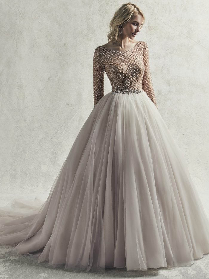 Fitzgerald Wedding Dress Sottero and Midgley | tulle ballgown wedding dress