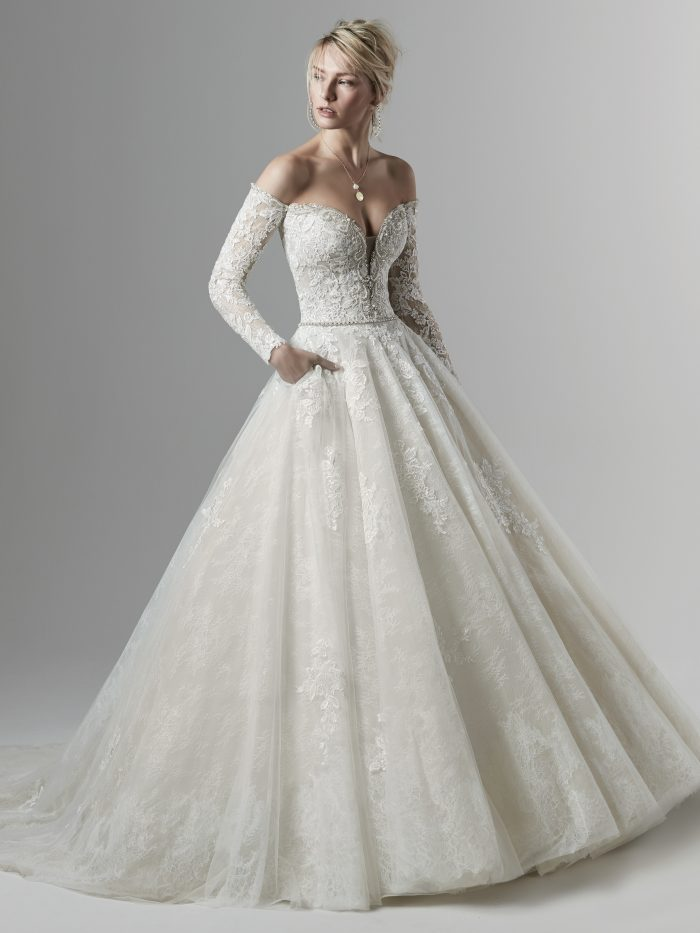 Sottero and Midgley Porter Marie Long Sleeve Ballgown Wedding Dress