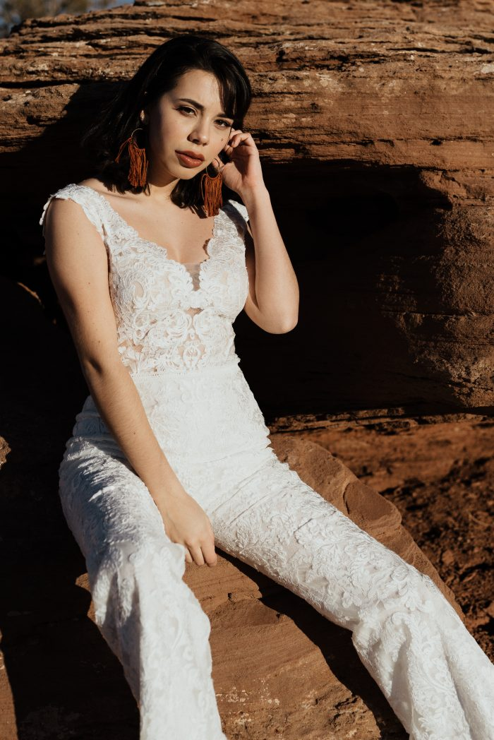 Sottero and Midgley Milan Lace Jumpsuit Wedding Dress