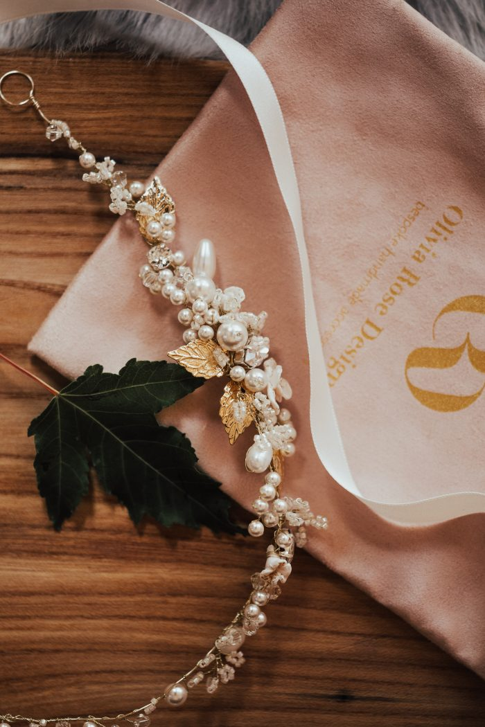 Jeweled Headband for a Rustic Woodland Destination Wedding