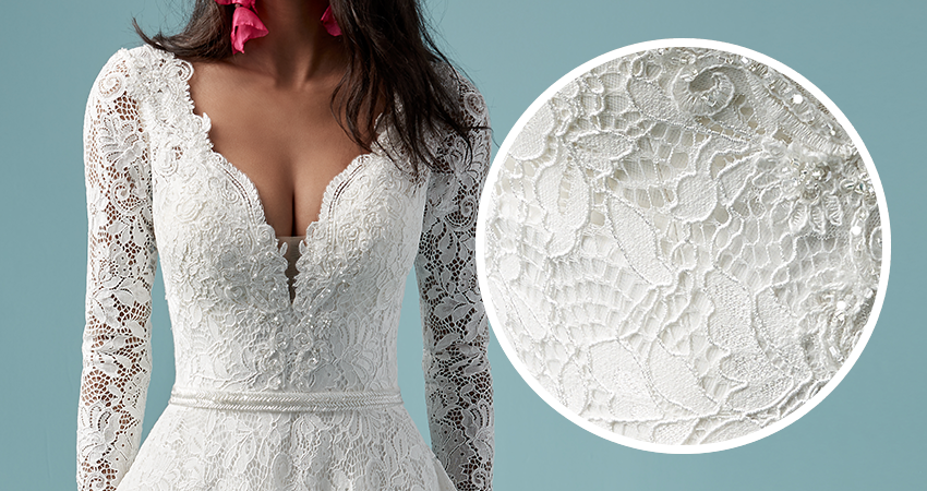 Terry Lace Aline Wedding Dress by Maggie Sottero