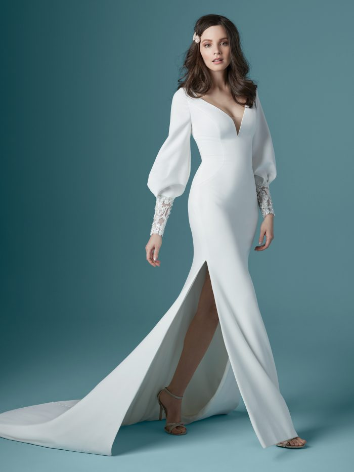Aberdeen Simple Long Sleeved Wedding dress by Maggie Sottero