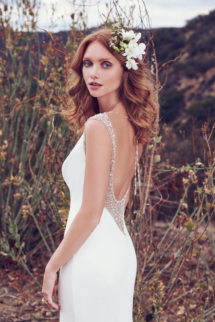 Evangelina Simple Wedding Dress by Maggie Sottero