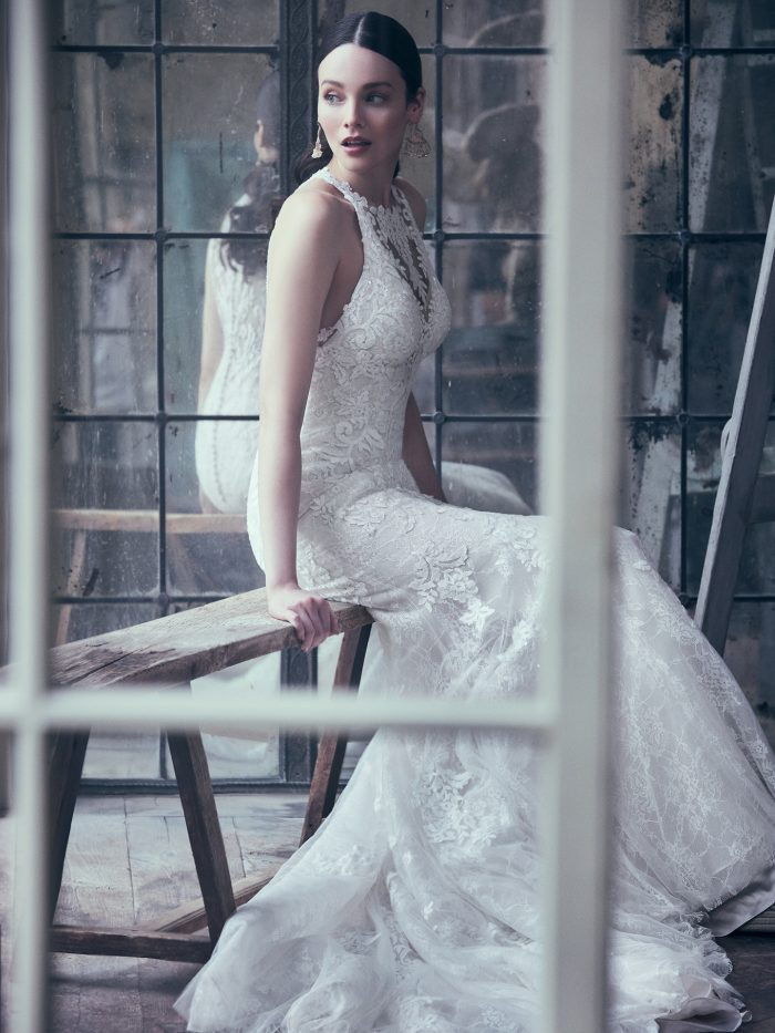 Liberty Lace Fit-and-Flare Wedding dress by Maggie Sottero