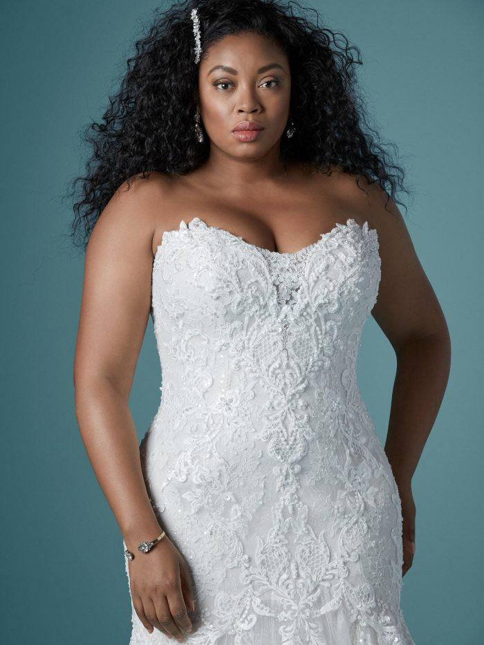 Lonnie Lynette Plus-sized Mermaid wedding gown by Maggie Sottero