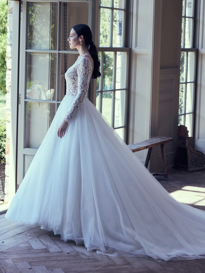 Mallory Dawn Lace Ballgown Wedding Dress by Maggie Sottero