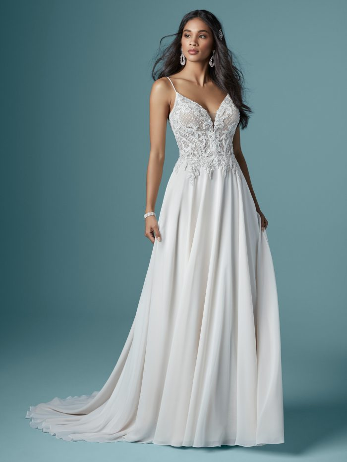 Nanette Sheath Lace Wedding Dress by Maggie Sottero