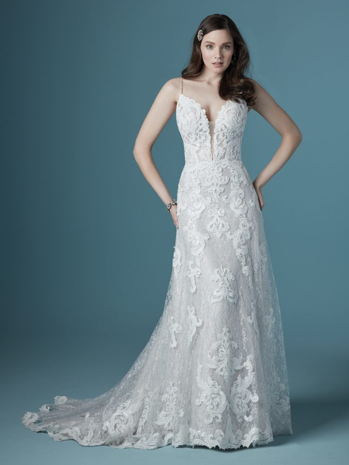 Tuscany Lane Lace A-line Wedding Dress by Maggie Sottero