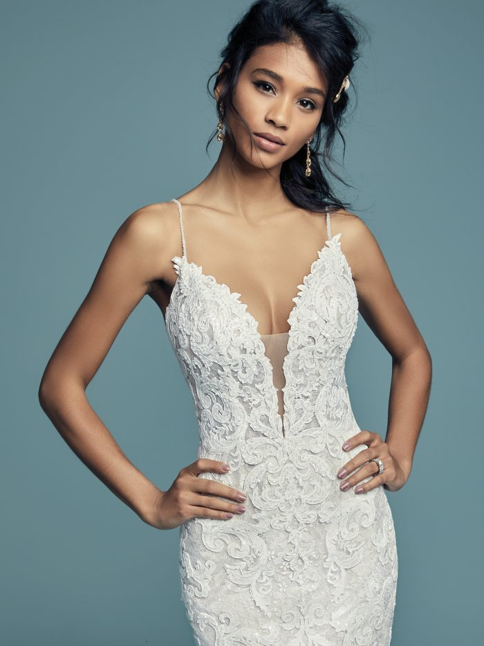 Tuscany Lynette Lace Fit-and-Flare Wedding Gown by Maggie Sottero