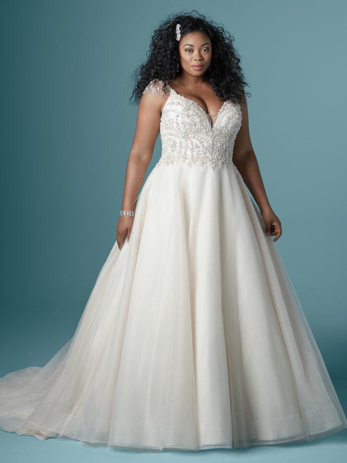 Zandrina Plus-size ballgown Wedding Dress by Maggie Sottero