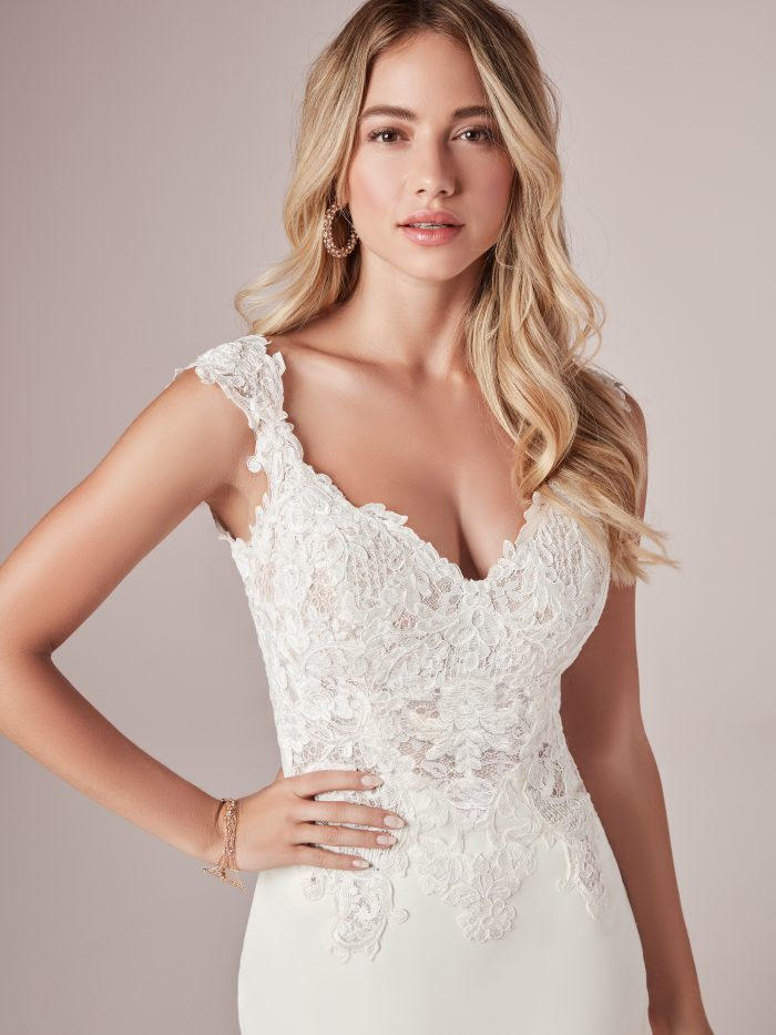 Amy Lace Fit-and-Flare wedding dress by Rebecca Ingram