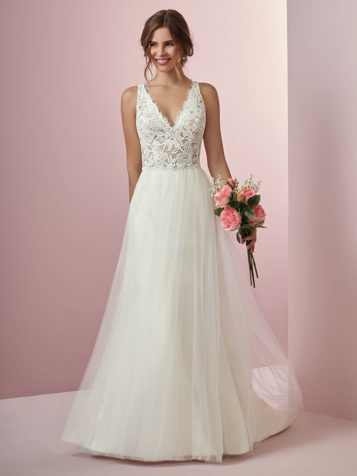 Connie Lace Sheath Wedding Dress by Rebecca Ingram