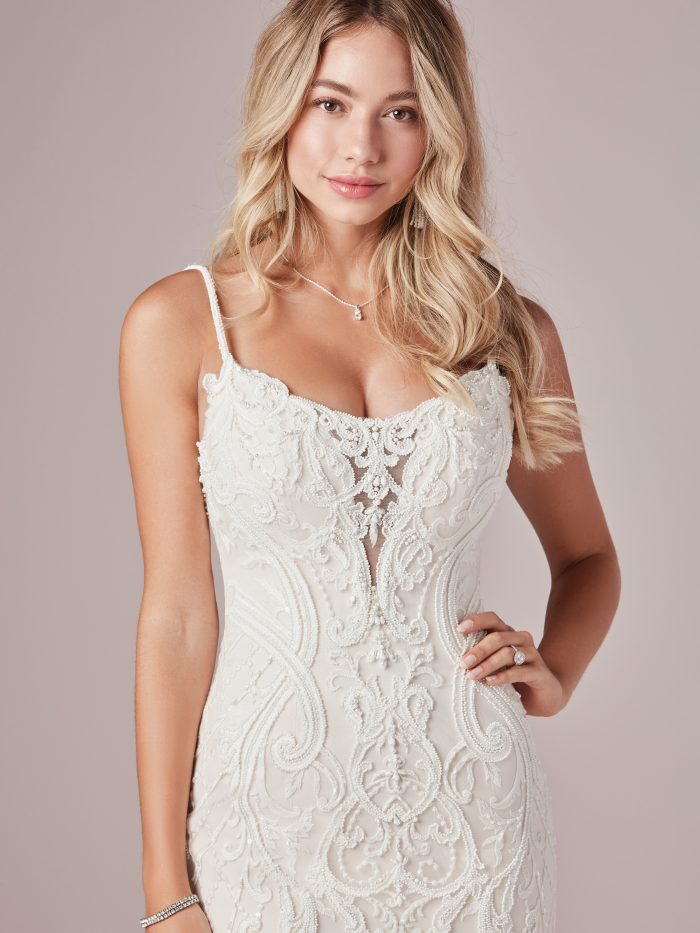 Corrine Lace Sexy Bridal Dress by Rebecca Ingram