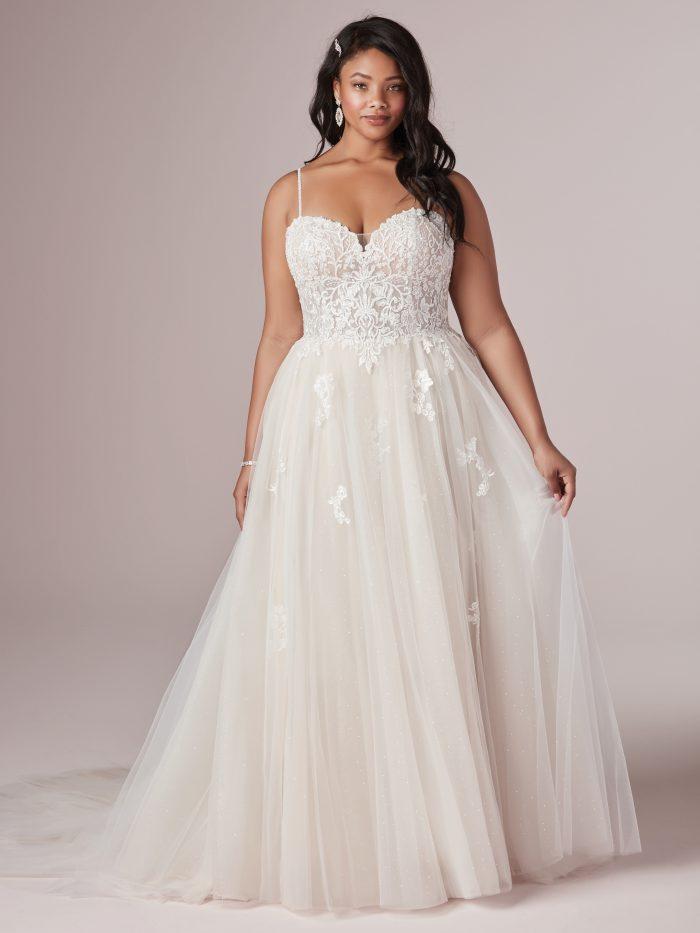 Marisol Lace Plus-Size wedding dress by Rebecca Ingram