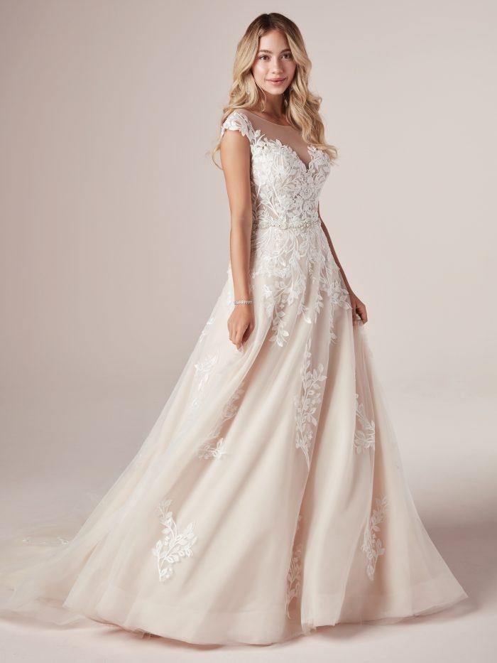 Wanda Lace Ballgown Wedding Dress by Rebecca Ingram