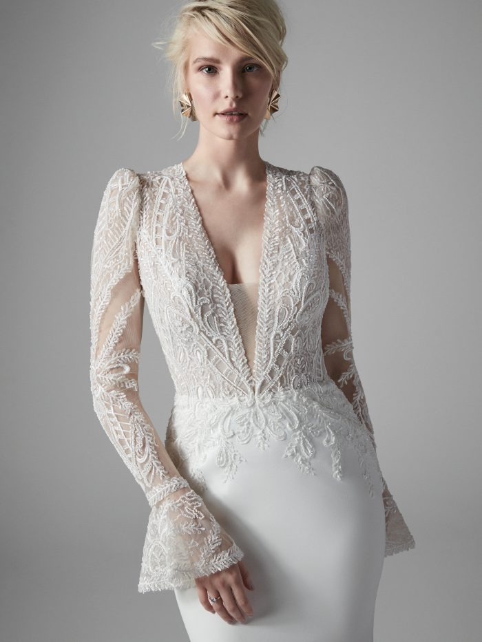 Burton Lace Mermaid Wedding Dress by Sottero and Midgley